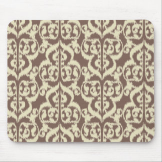 Ikat Moorish Damask - beige and taupe Mouse Pad