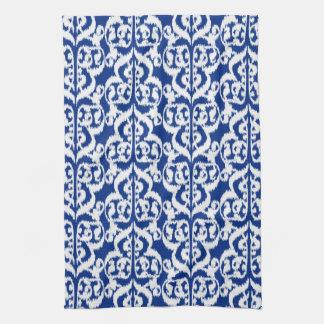 Ikat Moorish Damask - cobalt blue and white Hand Towel