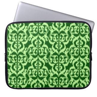 Ikat Moorish Damask - pine and mint green Computer Sleeve