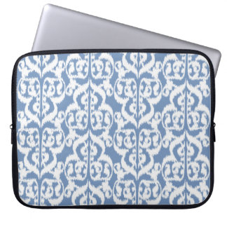 Ikat Moorish Damask - sky blue and white Computer Sleeve