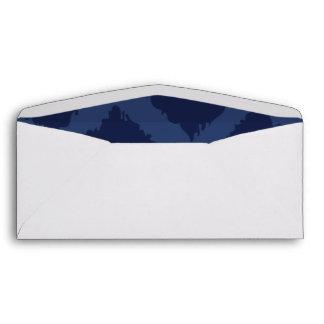Ikat Pattern in Blue Designer Envelope