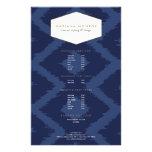 Ikat Pattern in Blue Designer Flyer