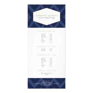 Ikat Pattern in Blue Designer Rack Card