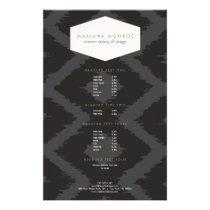 Ikat Pattern in Dark Gray Designer Flyer
