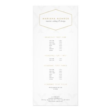 Ikat Pattern in Gray Designer Rack Card