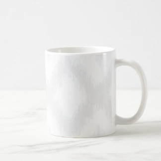 Ikat Pattern in Gray Mug Basic White Mug