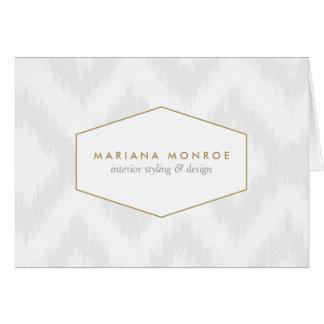 Ikat Pattern in Gray/White Designer Notecard