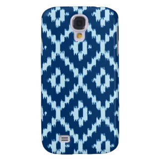 Ikat pattern - Indigo and pale ice blue Samsung Galaxy S4 Cover