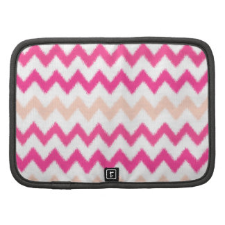 Ikat Pink Andes Aztec Chevron stripes pattern Planner
