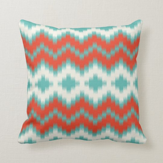 Ikat Print Pillow