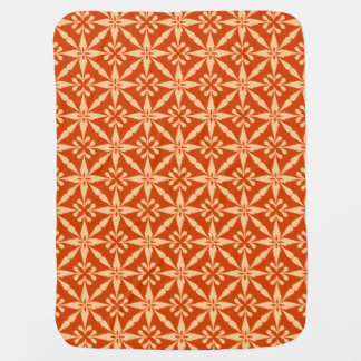 Ikat Star Pattern - Mandarin Orange Stroller Blanket