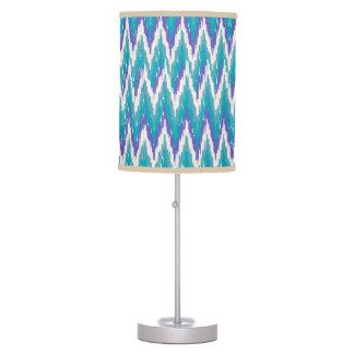 iKat Teal and Purple ZigZag Desk Lamp