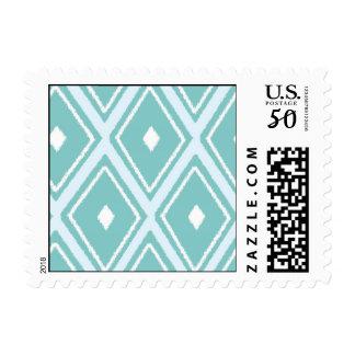 Ikat Textile design Postage
