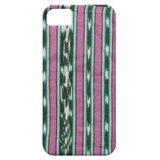 Ikat trasero y blanco del rosa iPhone 5 fundas
