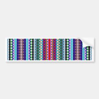Ikat tribal abstracto moderno pegatina de parachoque