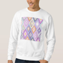 Ikat,tribal,pattern,purple,lavender,pink,white,fun Sweatshirt