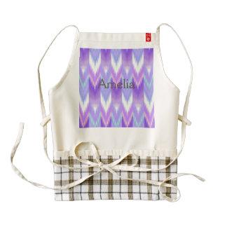 Ikat,tribal,pattern,purple,lavender,pink,white,fun Zazzle HEART Apron