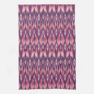 Ikat tribal púrpura toalla de mano