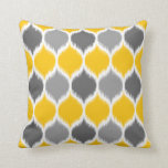 Ikat Weave Motif Pattern Throw Pillows