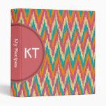 iKat Zigzag Design Spice Colors Binders