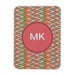 iKat Zigzag Design Spice Colors Flexible Magnet