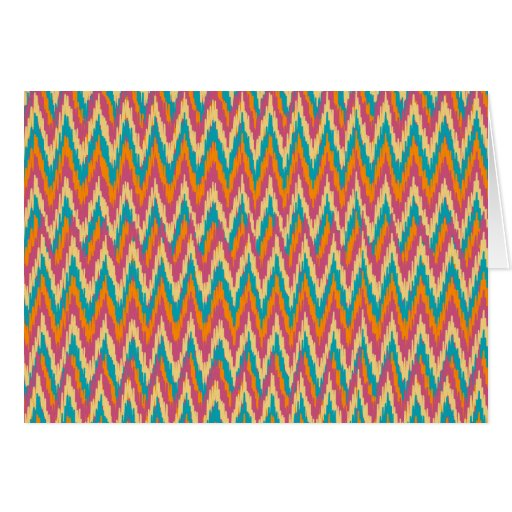 iKat Zigzag Design Spice Colors Greeting Card
