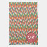 iKat Zigzag Design Spice Colors Hand Towel