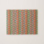 iKat Zigzag Design Spice Colors Jigsaw Puzzles