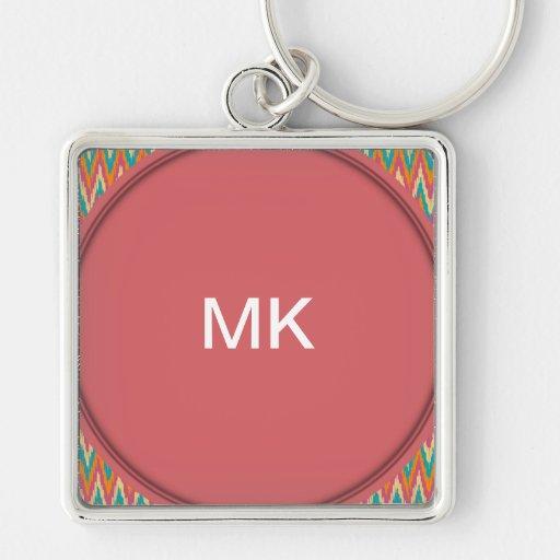 iKat Zigzag Design Spice Colors Keychains