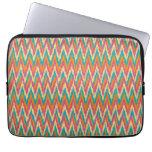 iKat Zigzag Design Spice Colors Laptop Computer Sleeve