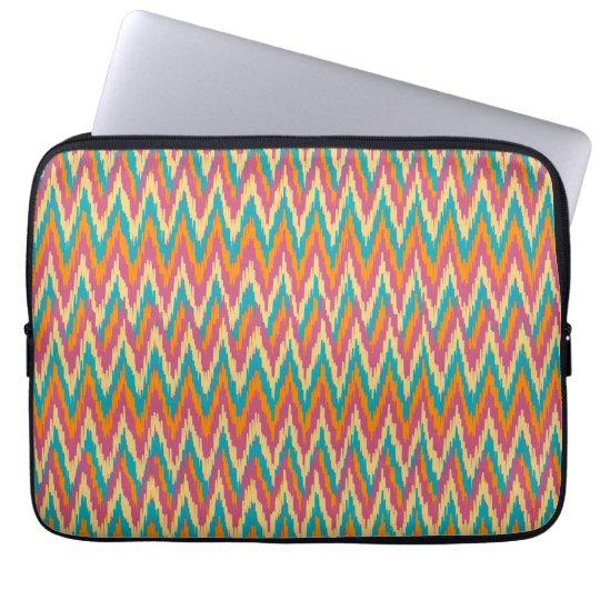 iKat Zigzag Design Spice Colors Laptop Sleeve