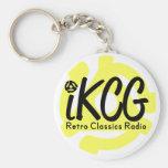 iKCG Logo with 45 Adapter Keychain