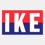 Ike 1952 para el presidente pegatina rectangular