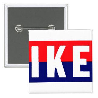 Ike 1952 para el presidente pin cuadrado