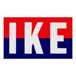 Ike 1952 para el presidente póster