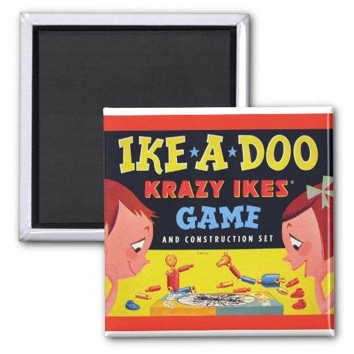Ike-A-Doo de Krazy Ike retro del juguete del kitsc Imán Para Frigorifico