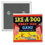 Ike-A-Doo de Krazy Ike retro del juguete del kitsc Pins