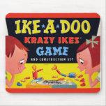 Ike-A-Doo de Krazy Ike retro del juguete del kitsc Alfombrilla De Raton