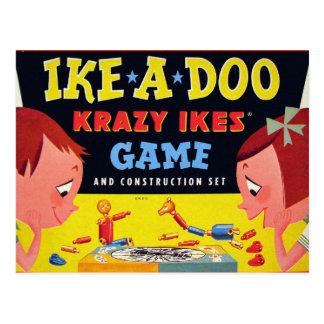 Ike-A-Doo de Krazy Ike retro del juguete del kitsc Tarjetas Postales