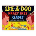 Ike-A-Doo de Krazy Ike retro del juguete del Postal