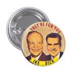 Ike-Dick - botón Pin Redondo De 1 Pulgada
