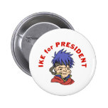 Ike for President Buttons