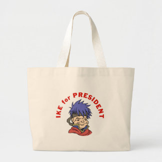 Ike for President Large Tote Bag