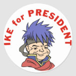 Ike for President Round Stickers