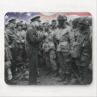 Ike on D-Day Patriotic Mousepad