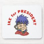 Ike para el presidente alfombrilla de ratón