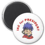 Ike para el presidente imán para frigorifico