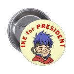 Ike para el presidente pin