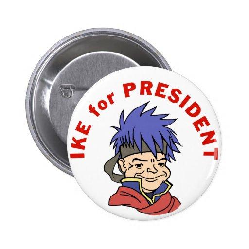 Ike para el presidente pins