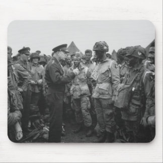 Ike Talking With Airborne On D-Day Mouse Pad